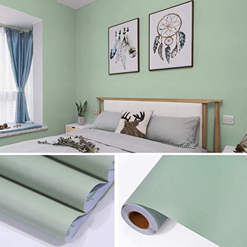 (fancy-fix Wallpaper Selbstklebende wasserfeste Folie aus hochwertigem PVC Aufkleber für Küchenschränke Möbelfolie Dekorfolie 61x300cm grün)