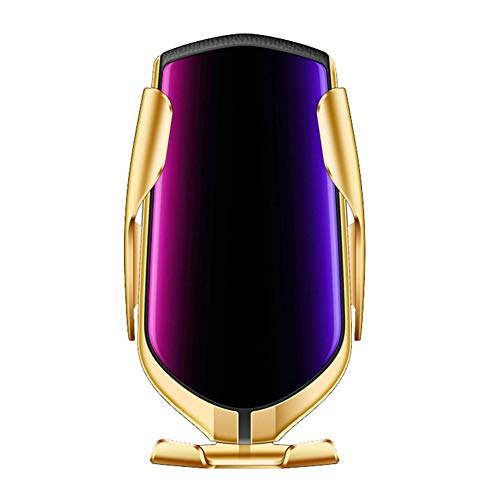 diallent13 Autohalterung Telefon Wireless Charger Holder Automatische Klemmung Smart IR Sensor Rack Golden -