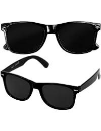 DIE ORIGINAL NERD CEAR® Club Sonnenbrille mit dunklen Gläsern 100% Original Schwarz