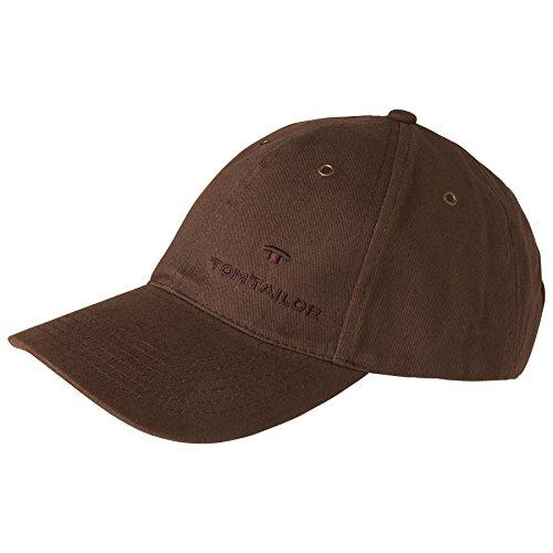 TOM TAILOR unisex, für Männer, für Frauen Gürtel & Riemen Baseball-Cap mit Stickerei d.braun/dk. brown, OneSize