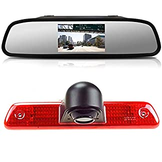 HD-Rckfahrkamera-Kit-43-Zoll-Rckspiegel-Monitor-im-3Bremslicht-Bremsleuchte-Auto-Rckfahrkamera-Transportster-fr-Peugeot-ExpertFIAT-ScudoCitroen-Jumper-2007-2016