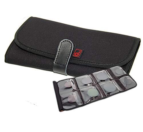 Ares Foto® Filter Case Filtertasche für 8 Filter bis 86mm. Aufbewahrung & Transport. Wasserbeständiges und staubdichtes Design. Robustes Neopren. Taschenbeutel.