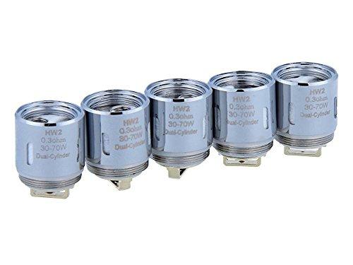 HW2 Verdampferköpfe mit 0,3 Ohm - für Ello/Ello Mini/Ello Mini XL Verdampfer - von SC - 5 Stück pro Packung