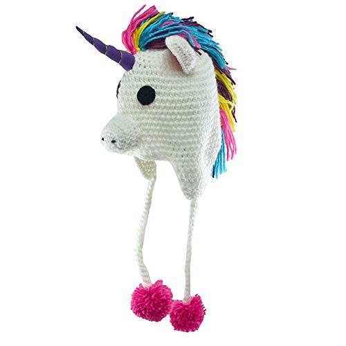 YXYP Impresion 1 Unid Sombrero Sombrero de Unicornio Sombreros de los niños Sombrero de Punto Elegante Moda elección Velvet Más Grueso Diseño Sombrero de Lana Gorro Gorro de Punto