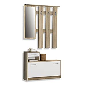 roller garderobe foxi sonoma eiche 98 cm breit amazon. Black Bedroom Furniture Sets. Home Design Ideas