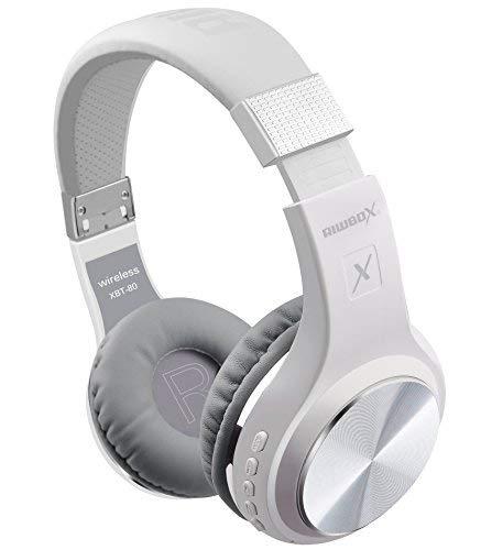 Riwbox XBT-80 sobre la oreja con micrófono, auriculares inalámbricos y con cable...