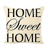Cuscino per divano in cotone lino federa per la casa,Yanhoo Copricuscini decorativi da letto,Cuscini decorativi e accessori,Biancheria da letto per Natale, San Valentino,matrimonio, anniversario
