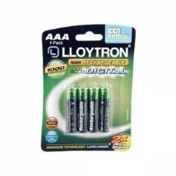 Lot de 4 piles rechargeables numériques Ni-MH AAA 550mAh