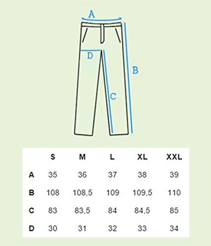 Betterstylz MasonBZ Chino-Jogger Pantalon Chino Èlégant Homme 20 couleurs (S-3XL) Navy Blau/Sommer Edition