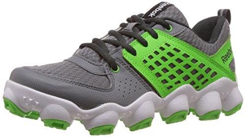 Reebok Boy's Atv19 Ultimate Ii Fog Grey,Solar Green,Gravel and White Nylon Sneakers – 3.5 Uk 41VRq8eGD5L