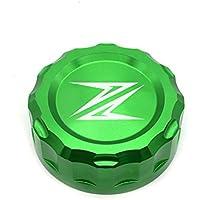 Z300 Z650 Z900 Z800 Z750 Z1000 Motorcycle Tapa del Depósito de Líquido Trasero, Tapa del Depósitos de fluidos de freno para Kawasaki Z300 2016 Z650 2017 2018 Z900 2017 2018 Z800 2013-2017 Z750 R 2006-2010 Z1000 2007-2016 Verde