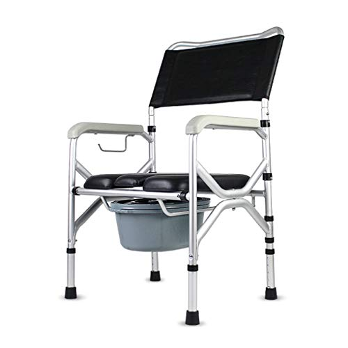 KPL-Kommode Deluxe Nachtkommode Duschstuhl Bariatrischer Toilettensitz mit Ultra-Premium gepolstert Eimer/Deckel rutschfeste Beinauflage für Senioren, Behinderte Wiederherstellung der Chirurgie -