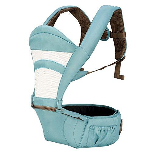 SJJL Multifonctions Quatre Saisons Universal Baby Carrier/Respirant Pratique Confortable Porte-Bébé/Avant Tenir Simple Siège Taille Tabouret Porte-Bébé (Couleur : Bleu, Taille : A)