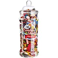 Gigantic Super Sweet Co. Retro 2.5 Litre Jar of Pick 'n' Mix Sweets – Includes 6 Themed Labels for Personalised Happy Birthday, Merry Christmas, Secret Santa & Thank You Gifts, Presents & Surprises!