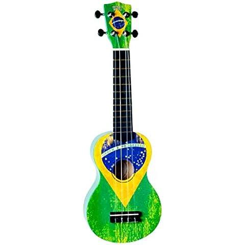WiKi UK/BZ - Ukelele, diseño de la bandera de Brasil, color verde