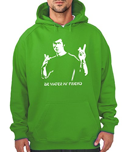 -- Be Water -- Boys Kapuzenpullover Kelly Green, Größe XXL Green Dragon Kung Fu
