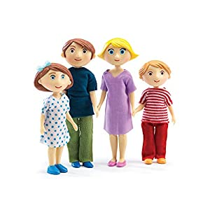 Djeco  - Casa de muñecas la Familia de gaspard & Romy