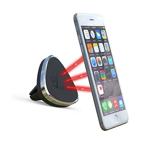 Support magnétique pour téléphone sur grille d'aération de voiture - universel : compatible tous smartphones