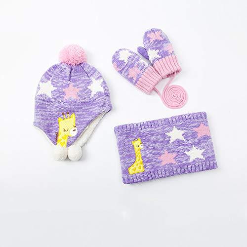 GANTS Xia écharpe Chapeau bébé Automne et Hiver Couleur en Option Grand  (Couleur   Purple 80b445f80df