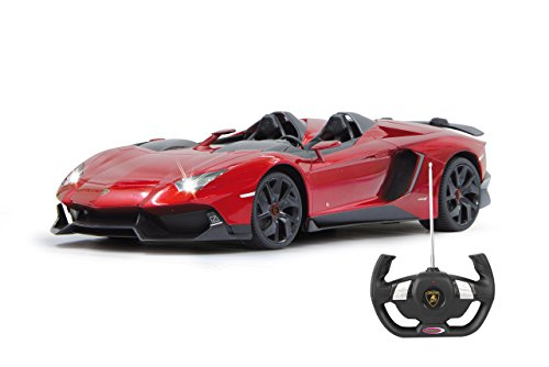 Jamara 404500 - lamborghini aventador j veicolo, scala 1:12, rosso metallo