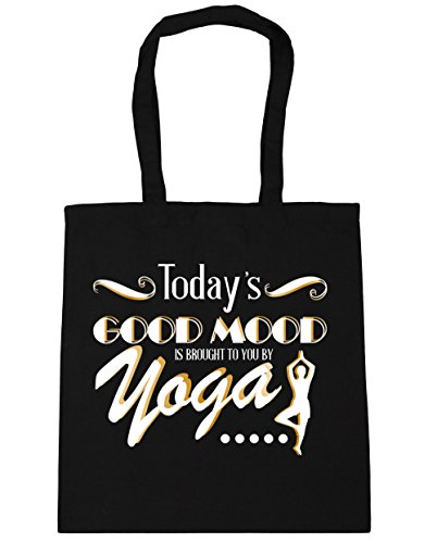 <span class='b_prefix'></span> HippoWarehouse Today's Good Mood Is Brought To You By Yoga Tote Shopping Gym Beach Bag 42cm x38cm, 10 litres
