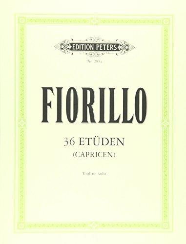 36 Etüden (Capricen) für Violine solo: 36 ETUDES (CAPRICES) for Violin