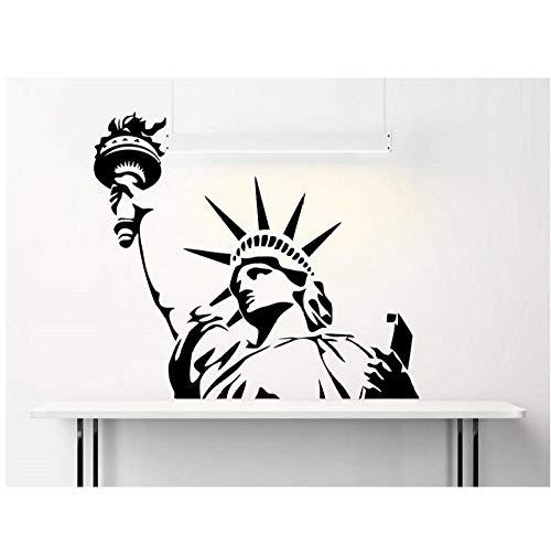 Pegatinas Estados Unidos Nueva York hitos Estatua de la Libertad vinilo adhesivos de pared sala de estar dormitorio oficina decoración para el hogar calcomanía