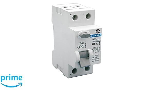 Attractive ElectroDH Differential Schutzschalter (RCCB) 2 40 A 230 VAC Electro DH  78.200/40 8430552107360: Amazon.de: Gewerbe, Industrie U0026 Wissenschaft