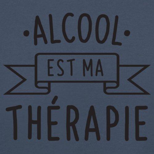 L'Alcool est ma thérapie - Femme T-Shirt - 14 couleur Bleu Marine