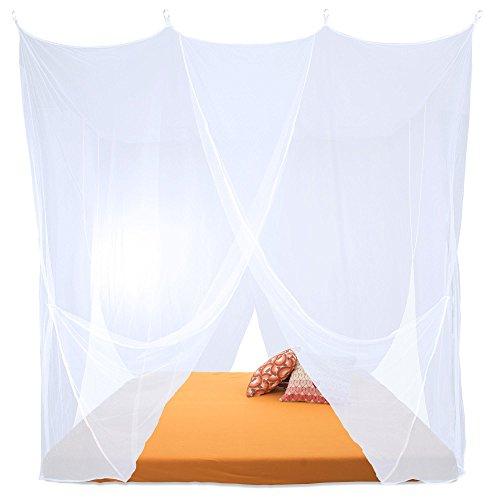 CelinaSun Moskitonetz, XXL Doppelbett Mückennetz, eckiger Bettvorhang 4 Eingänge, Insektenschutz Sumkito 1000537