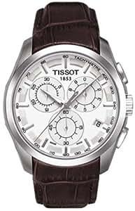 Tissot Couturier T0356171603100 Stainless Steel Case Brown Leather Men's Quartz Watch