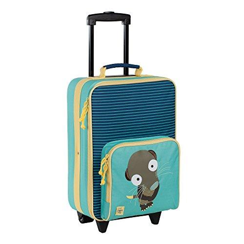 Lässig stabiler Kinder Reisekoffer/Kindertrolley mit separatem Schuh-/Wäschebeutel, Crocodile granny türkis