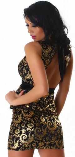 JELA London - Robe - Dos nu - Col ras du cou - Sans manche - Femme Or - Gold - Gold