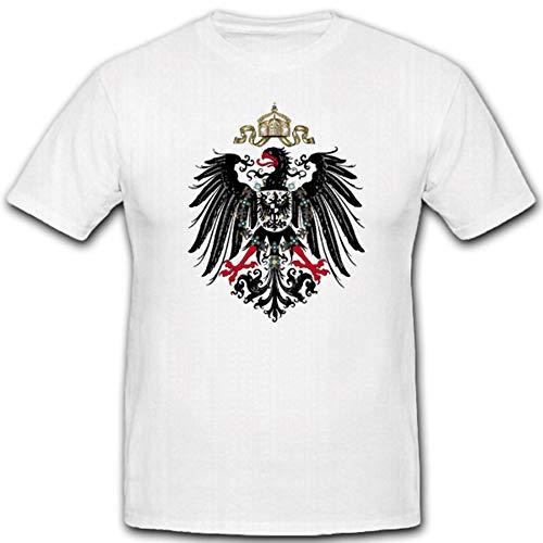 Preußischer Adler Wappen Preussen Hoheitszeichen Abzeichen - T Shirt #2217, Größe:Herren M, Farbe:Weiß -