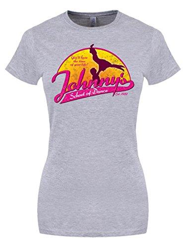 T-Shirt Johnny's School of Dance da donna in grigio