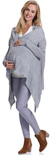 Be Mammy Damen Umstandspullover 2S92(Grau, L/XL)