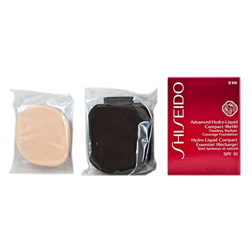 Shiseido Foundation femme/woman, Advanced Hydro-Liquid Compact Refill Nummer B100 Very Deep Beige, 1er Pack (1 x 12 ml)