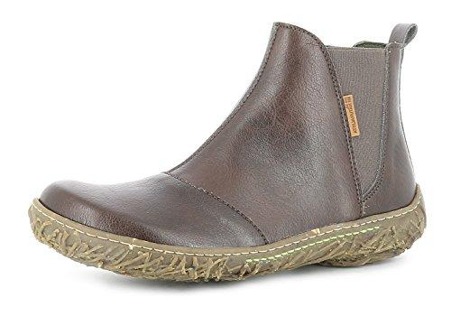 El Naturalista N786T Nido Damen Chelsea Boots,Frauen Stiefel,Halbstiefel,Stiefelette,Bootie,Schlupfstiefel,Flach,Vegane Innenausstattung,Brown,EU 41