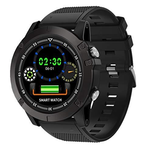 bloatboy Spovan SW002 Bluetooth 4.0 Smart Watch IP68 wasserdichte Intelligente Blutdruck Herzfrequenzmessung Gesundheit Uhr (Schwarz)