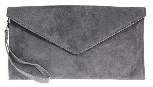 sale-sale-brand-genuine-italian-suede-large-envelope-shaped-clutch-bag-purse-handbag-dark-grey