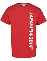 637c07f3005 RWC 2019 Japan Mens Graphic Script Rugby T-Shirt [red]
