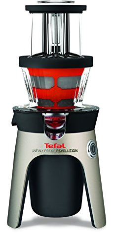 Tefal Infiny Press Revolution ZC500H - Exprimidor Aluminio, Negro, Rojo, Acero inoxidable, Acero inoxidable...