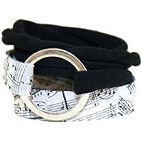 Wickelarmband Noten - breites Armband - onesize - stretch