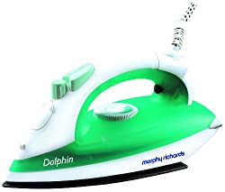 Morphy Richards Dolphin 1300-Watt Steam Iron (Green and White)