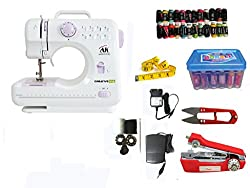 CreativeVia HA-SM04 10 built-in Stitch Pattens Portable & Compact Multi-Functional Electric sewing Machine