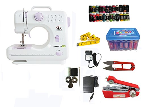 Creativeviaha-sm04 10 Built-in Stitch Pattens Portable & Compact Multi-functional Electric Sewing Machine