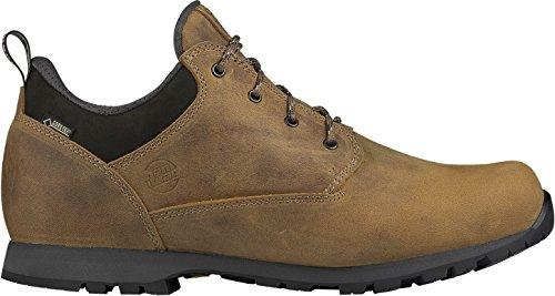 Homens Hanwag Ao Ar Livre Caminhadas Sapato E Trekking Calçados De Couro Nobuck Com Vibram Sola Patoja Baixo Gtx Marrom / Marrom Cinza
