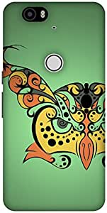 The Racoon Grip printed designer hard back mobile phone case cover for Huawei Nexus 6P. (Hypnoowl G)