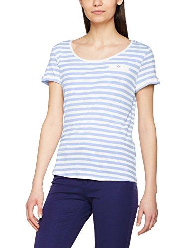edc by ESPRIT Damen 047CC1K013 T-Shirt, Mehrfarbig (Light Blue Lavender 445), 34 (Herstellergröße: XS) -