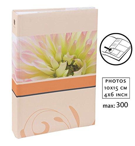 Blossoms Fotoalbum für 300 Fotos in 10x15 cm Einsteck Foto Album Memoalbum: Farbe: Orange